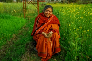 Vandana Shiva  - sitting